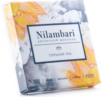 Шоколад Nilambari горький 70%, 65 гр.