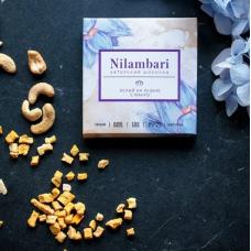 Шоколад Nilambari белый на кешью с манго, 65 гр.