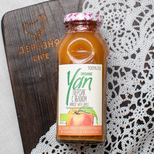 Сок персиковый (с добавлением яблочного сока) Organic YAN 250 мл