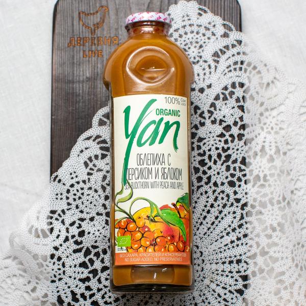 Сок облепиховый (с добавлением персиково-яблочного сока) Organic YAN 930мл