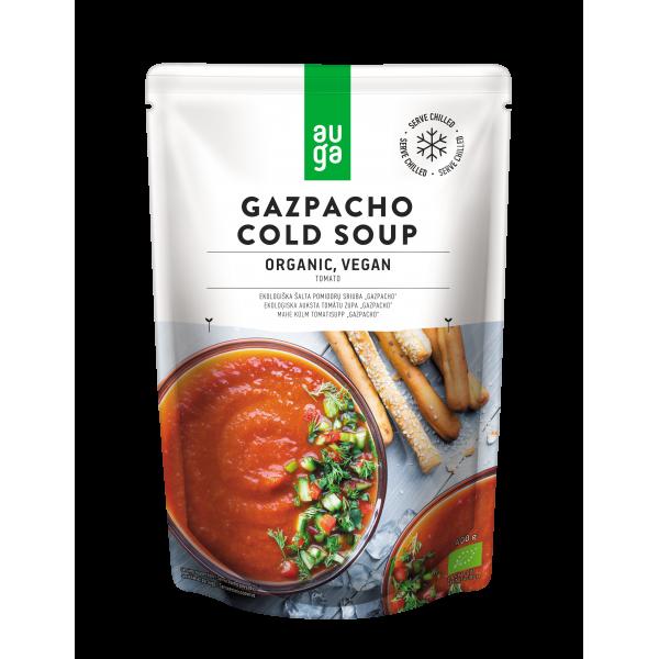 Суп холодный томатный Гаспачо органический Auga, 400 гр
