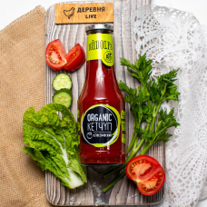 "Кетчуп ""Organic"" томатный классический Rudolfs, 530 гр."