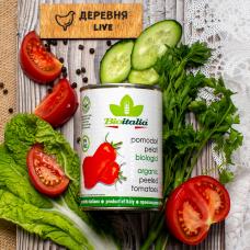 Томаты очищенные в томатном соке ОРГАНИЧЕСКИЕ, 400 гр