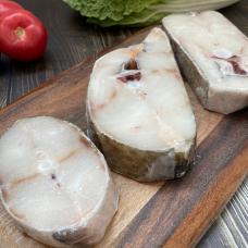 Треска атлантическая стейк свежемороженный, 0,7  кг.