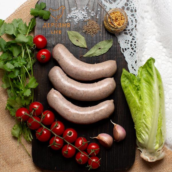 """Колбаски для жарки/гриля   """"Чесночные""""из говядины, 0,3 кг."""
