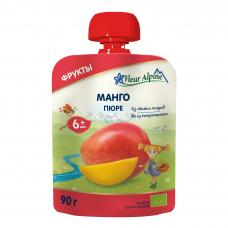 Пюре из манго, +6 мес. Fleur Alpine, 90 гр.