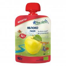 Пюре из яблок, +4 мес. Fleur Alpine, 90 гр.