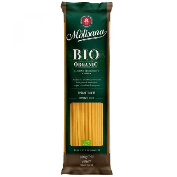 Спагетти из твердых сортов пшеницы BIO, LA Molisana, SPAGHETTI 500 гр.