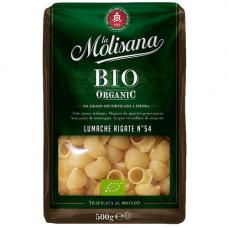 Улитки рифленые из твердых сортов пшеницы BIO, LA Molisana, 500 гр.
