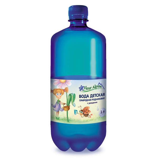 Вода детская, природная, родниковая с рождения, Fleur Alpine, 1 л.