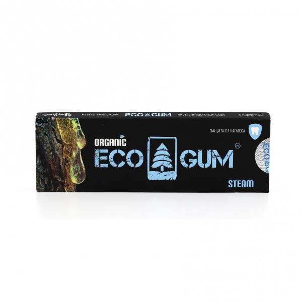ECO GUM. Органическая жвачка ECO GUM steam (паровая), 5 г.