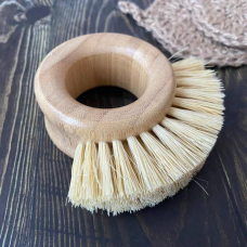 Щётка - кольцо для чистки овощей с щетиной из сизаля