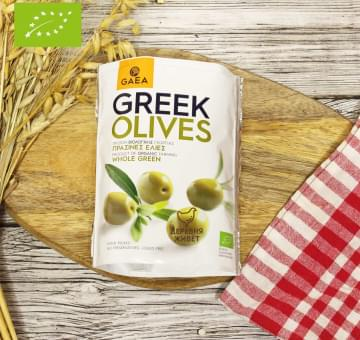 Оливки зелёные с косточкой ОРГАНИЧЕСКИЕ, 150 гр.