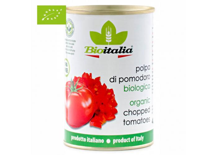 Томаты очищенные резаные в томатном соке ОРГАНИЧЕСКИЕ, 400 гр