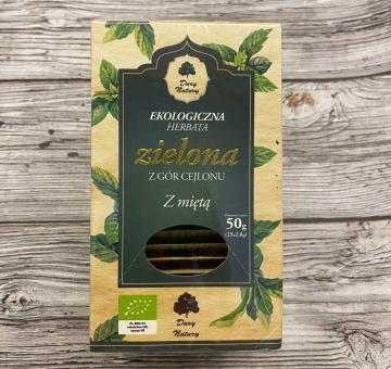 Чай зеленый цейлонский с мятой ОРГАНИЧЕСКИЙ, 25 пак.