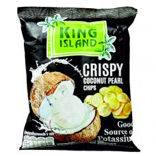 Кокосовые чипсы из сердцевины пророщенного кокоса KING ISLAND, 40 гр.