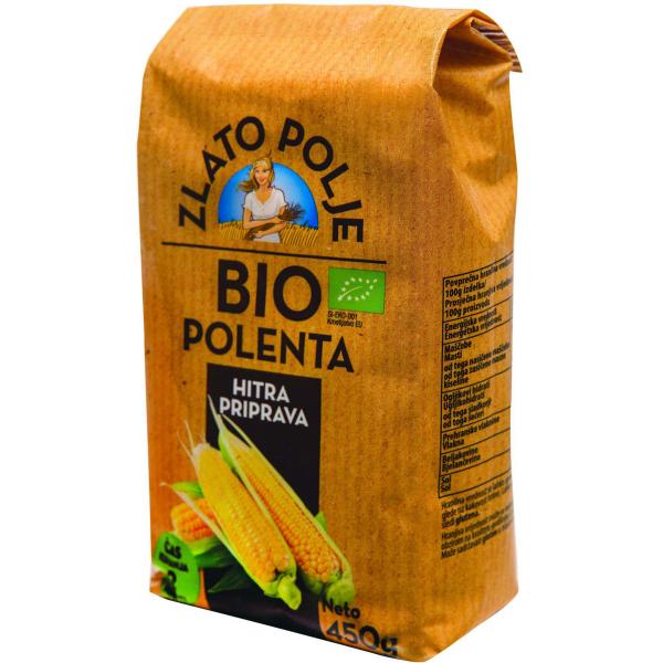 Крупа кукурузная полента органическая ZLATO POLJE BIO 450 г