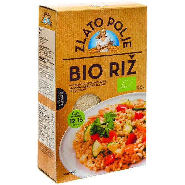 Крупа рисовая. Рис органический ZLATO POLJE BIO 800 г