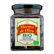 Maestro de Oliva Маслины с косточкой BIO без рассола 150 гр