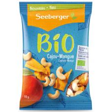 SEEBERGER BIO Смесь обжаренных ядер кешью и сушеного манго 110 гр
