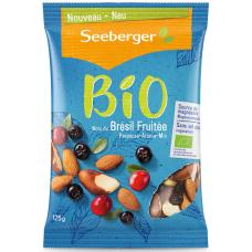 SEEBERGER BIO Смесь обжаренных ядер бразильского ореха, миндаля, черноплодной рябины и мягкой клюквы 125 гр