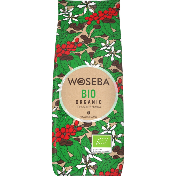 Woseba BIO ORGANIC органический кофе в зернах 500г