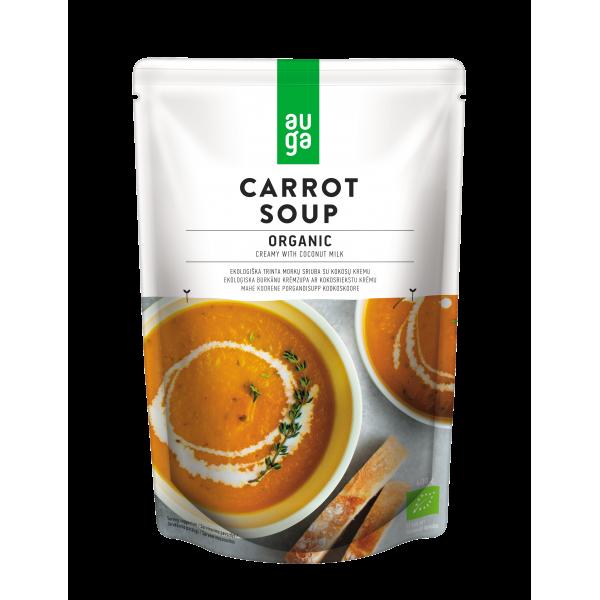 Крем-суп Морковный с кокосовым молоком органический Auga, 400 гр.