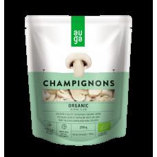 Шампиньоны в рассоле органические нарезанные Auga, 250 гр