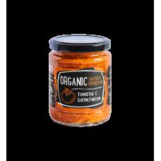 """Закуска овощная """"Organic"""" томаты с базиликом Rudolfs, 235 г."""