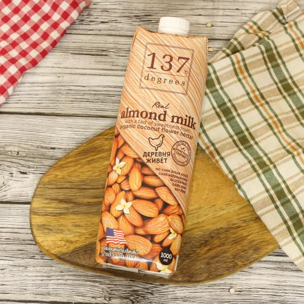 Миндальное молоко с нектаром кокосовых соцветий 137 degrees БЕЗ САХАРА 1 л.