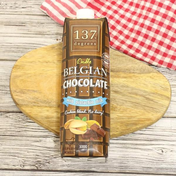 Фисташковое молоко с бельгийским шоколадом 137 degrees БЕЗ САХАРА 1 л.