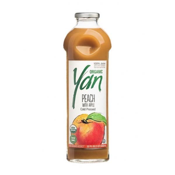 Сок персиковый (с добавлением яблочного сока) Organic YAN 930мл