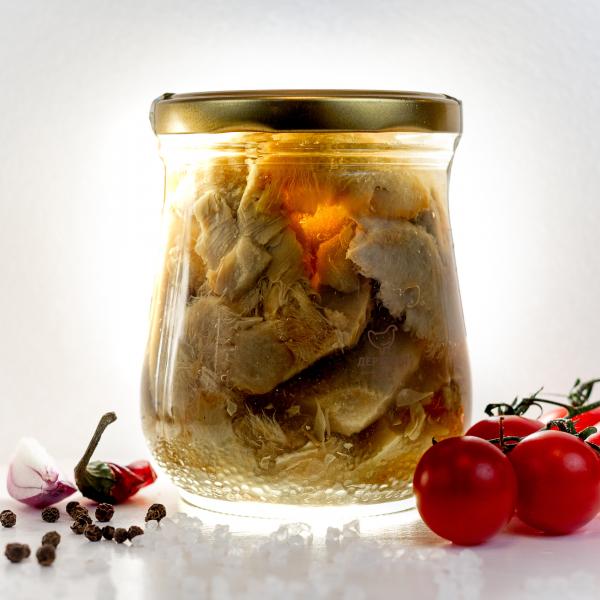Грузди белые резаные соленые, 500 гр.