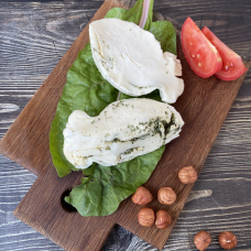 Сыр скаморца с чесноком и зеленью, 300 гр.