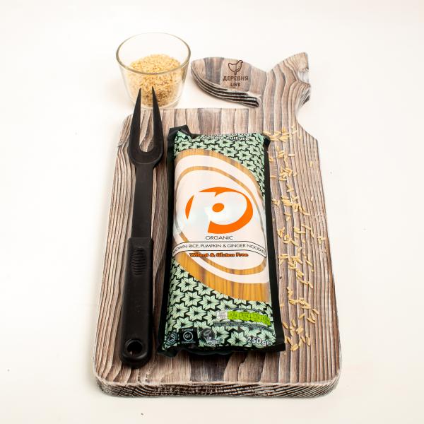 Лапша из коричневого риса с тыквой и имбирем ОРГАНИЧЕСКАЯ, 250 гр.