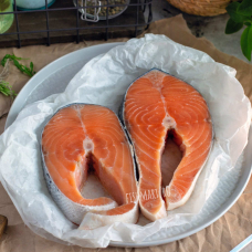 Семга стейк свежемороженый, 0,6 кг.