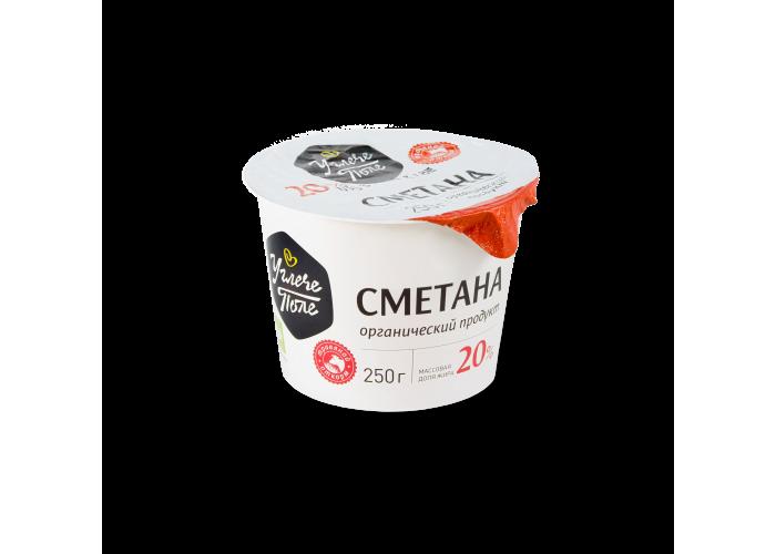 """Сметана """"УглечеПоле"""" 20% ОРГАНИЧЕСКАЯ 250 гр."""